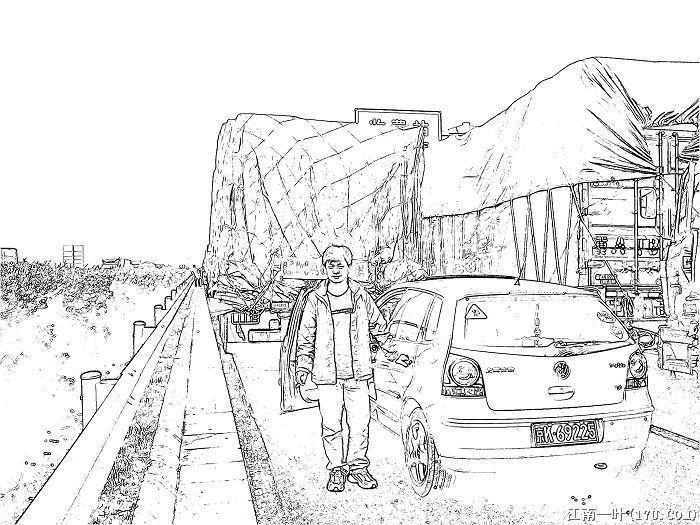 黑白古风风景线稿图片_风景520