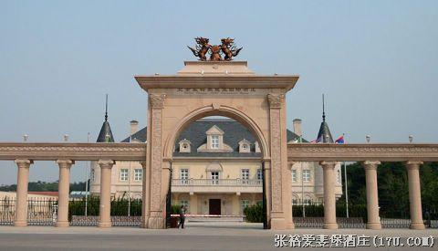 欧式红酒庄拱门背景